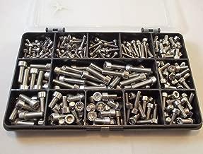 KWOKWEI M2 M3 M4 M5 M6 M8 Tornillos prisioneros de acero inoxidable 516 unidades con juego de llaves Allen