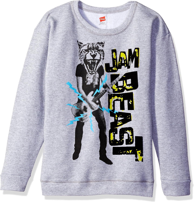 Hanes Big Boys' Graphic Sweatshirt, Light Steel, XL