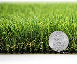Artificial Grass Turf Lawn Fake Grass Mat Thick Synthetic Turf Rug Indoor Outdoor Carpet Garden Lawn Landscape Rubber Backed with Drainage Holes,1.77inch Pile Height (16.4ft x 6.5ft = 106.6 sqaure ft)