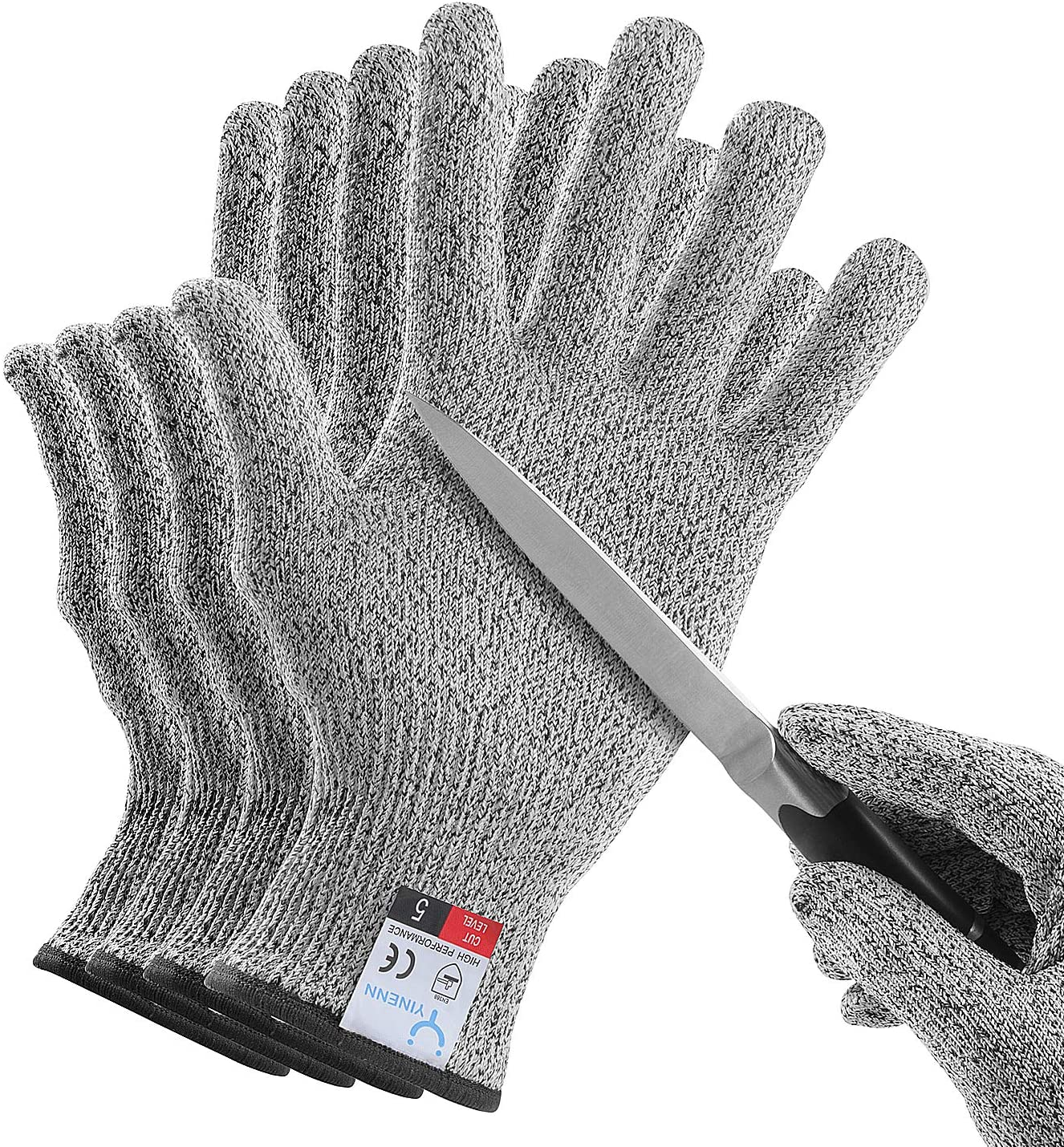 YINENN 2 Pairs 4 Gloves Opening large release sale Resistant Grade Food Cut 25% OFF Leve
