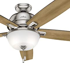 Hunter Fan 60 inch Great Room Ceiling Fan in Brushed Nickel with Light and LED Bulbs Included (Renewed) (Brushed Nickel)
