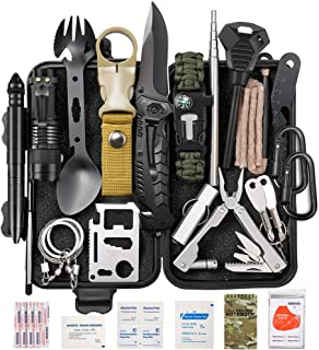 Lchahsprn Survival Gear Kit 37 in 1, Emergency EDC Survival Tools SOS Earthquake Aid Equipment, Cool Top Gadgets Valentine...