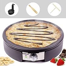 Duronic PM152 Crêpière électrique de 1500W |37 cm | Plaque de cuisson antiadhésive et démontable | Accessoires inclus | Te...