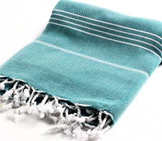 Cacala 100% Cotton Pestemal Turkish Bath Towel, 37 x 70