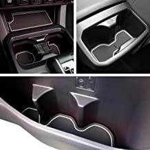 CupHolderHero for Toyota Tacoma 2016-2020 Custom Liner Accessories – Premium Cup Holder, Console, and Door Pocket Inserts 19-pc Set (Double Cab) (White Trim)