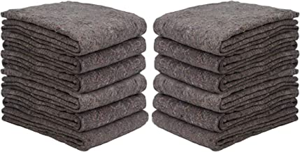 New Haven 1 Dozen Textile Moving Blankets | Cut Size 54x72 | Perfect Choice of Moving Pads for One Time Moves & Storage fr...