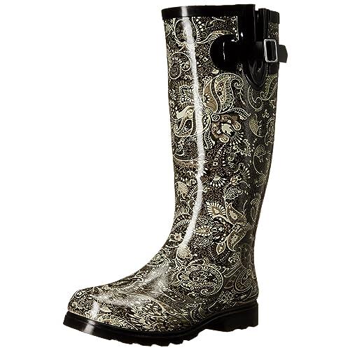 7511b396266 Paisley Rain Boots: Amazon.com