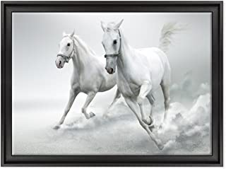 Cuadro sobre lienzo Canvas – ConKrea – Listo para colgar – Caballo Blanco al galope –