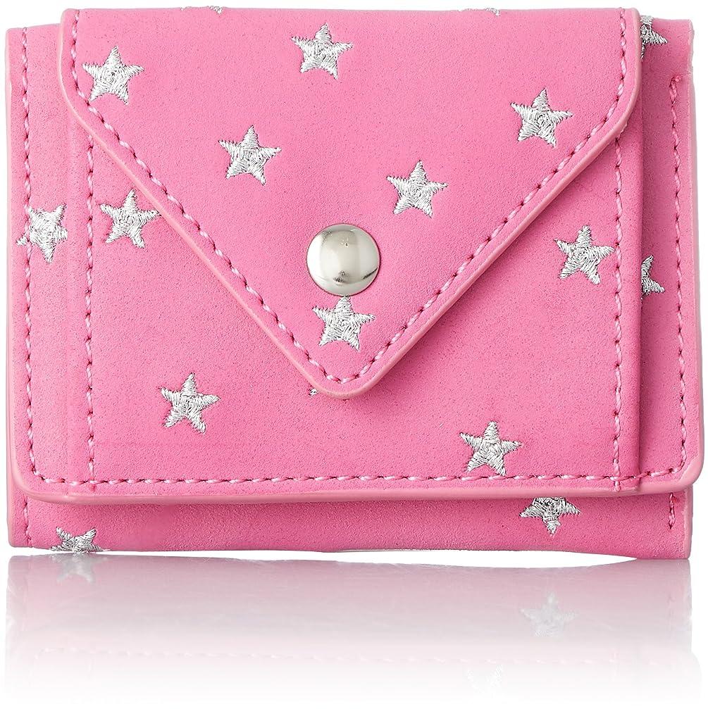 有害表面的な定数[レガートラルゴ] 折り財布 星刺繍 3ツ折ミニ財布