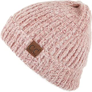 Hatsandscarf C.C Exclusives Fuzzy Marbled Knit Beanie Hat