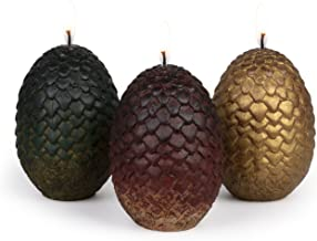 Game of Thrones Sculpted Dragon Egg Candles, Set of 3 - Perfect for GoT Fans - 2 1/2