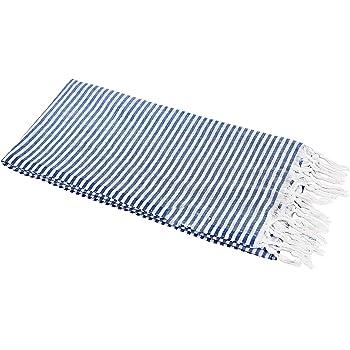 90x180 cm • Badetuch Strandtuch »Hamamtuch« Dünne Streifen marineblau ca
