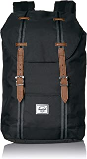 Retreat Mid-Volume Backpack, Black/Tan, One Size