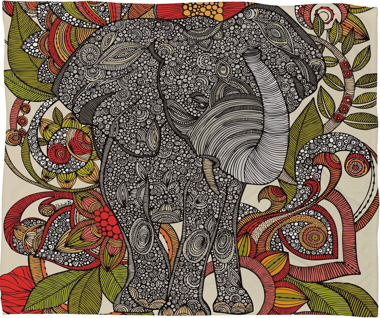 Deny Designs Valentina Ramos Bo Blanke Throw Fleece The 5% OFF Max 64% OFF Elephant