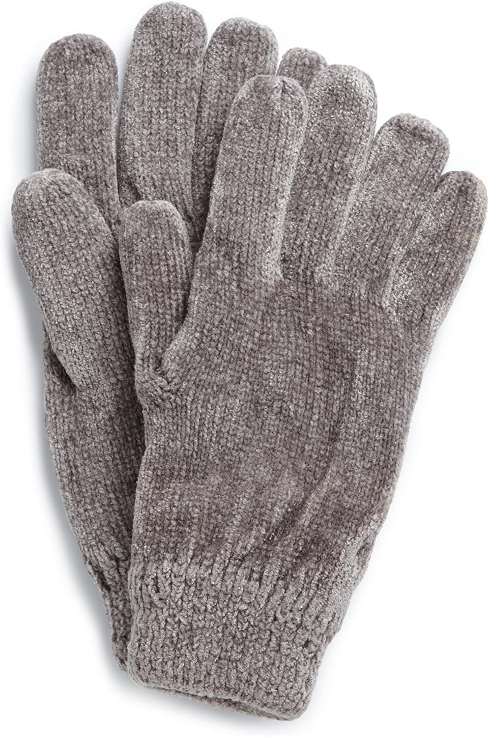 Isotoner Women's Solid Rayon Chenille Glove with Suede Palm Patch