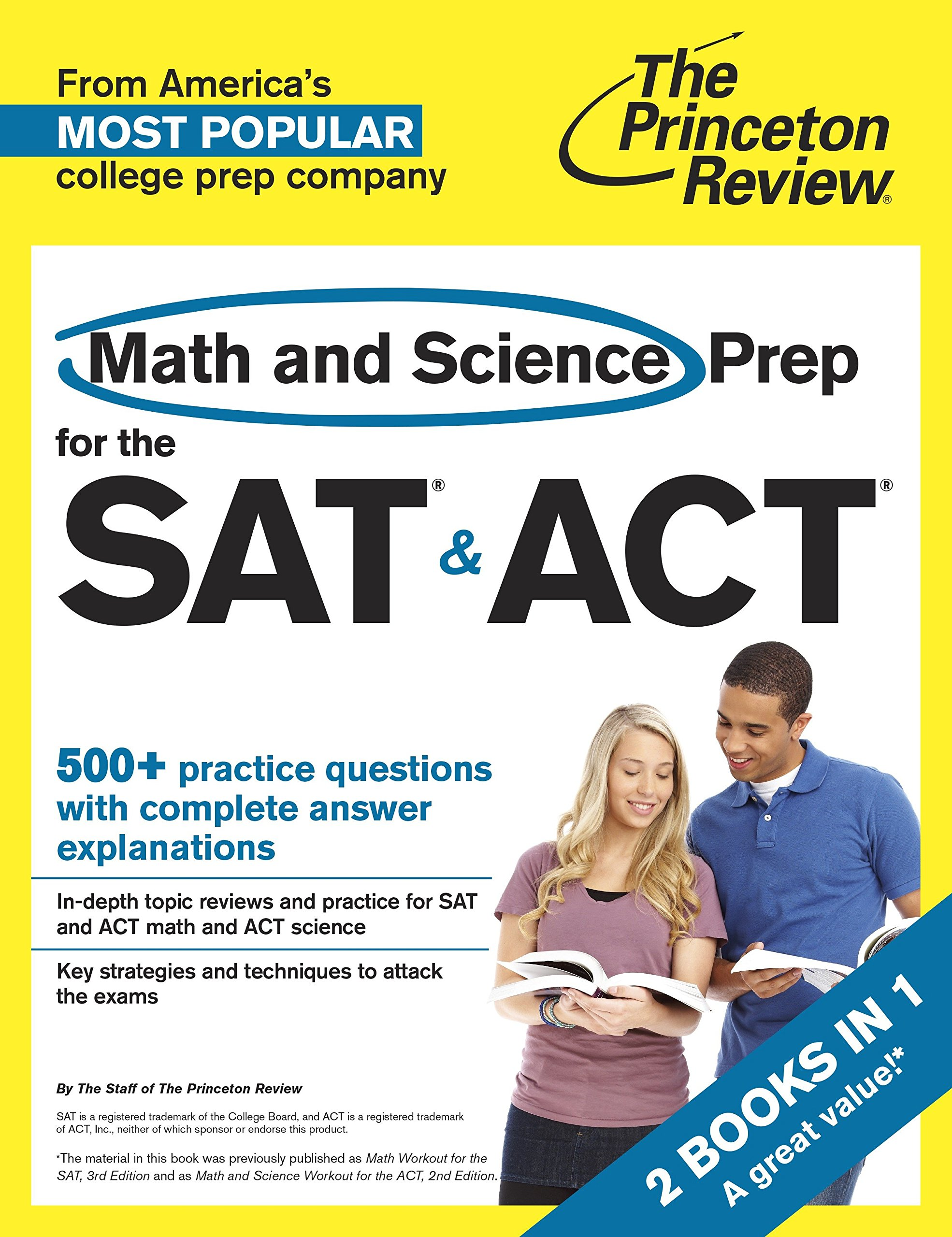 Image OfMath And Science Prep For The SAT & ACT: 2 Books In 1 (College Test Preparation)