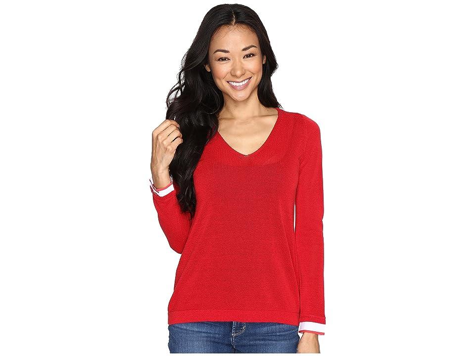 NYDJ Petite Petite Twofer Sweater (Red Ribbon) Women