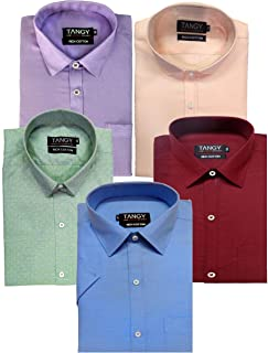 TANGY Pack of 5 Full Sleeves Mens Shirt