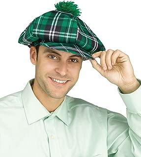 St Patricks Day Green Plaid Oversized Golf Hat Shamrock Irish Accessories