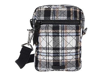 Vera Bradley RFID Convertible Small Crossbody (Cozy Plaid Neutral) Handbags