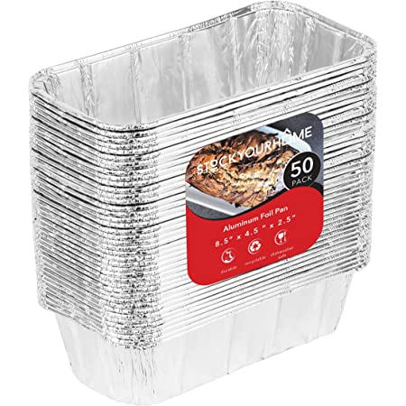 Cooking Broiling Cakes Baking 10.5 x 5 x 2.5 Pack of 20 Roasting Propack Aluminum Disposable Rectangle 3 Pound Loaf Pans For Serving