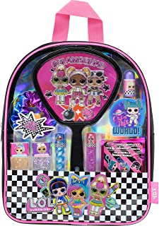 Townley Girl L.O.L. Surprise! Makeup Filled backpack Set with 10 Pieces, Including Lip Gloss, Nail Polish, Scrunchy, Mirro...