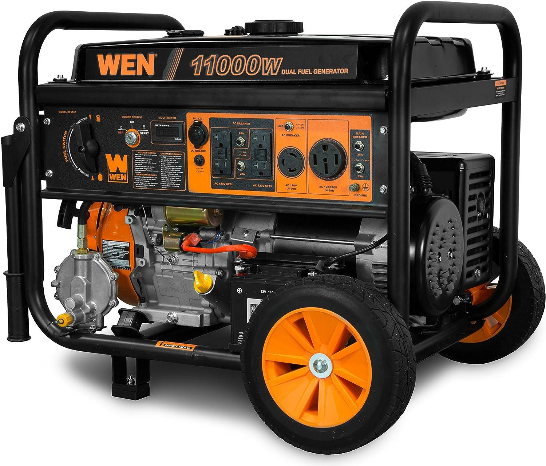 WEN DF1100T 11,000-Watt Dual Fuel Portable Generator