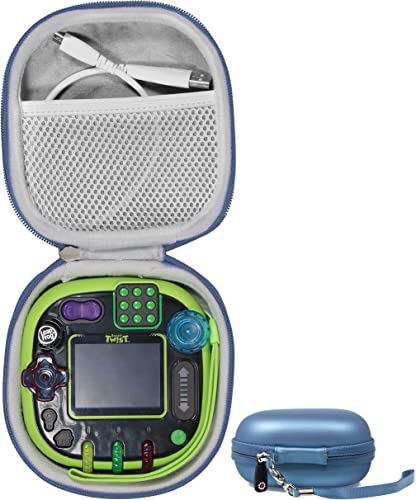 new arrival getgear Tailor Made Protective case for Leapfrog Rockit Twist Handheld Learning Game System, outlet online sale mesh Pocket online for Cord and Other Accessories, Finger Strap (Blue) online sale