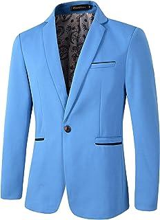 Chaqueta de hombre Slim Fit Casual 1 botón Blazer