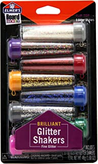 Elmer's Board Mate Glitter Shakers, 8 Flip-Top Shakers in 8 Vibrant Colors (E3066)