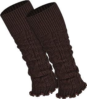stulpen braun Piarini 1 Paar Bein Stulpen Damen - warme Beinstulpen Strick - One-Size