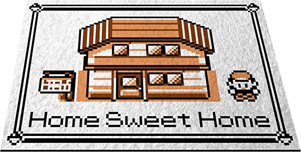 Pokemon Home Sweet Home Doormat Welcome Floormat 24 X 36 Game Boy Color Sepia