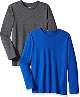Amazon Essentials Boys' 2-Pack Long-Sleeve Tees