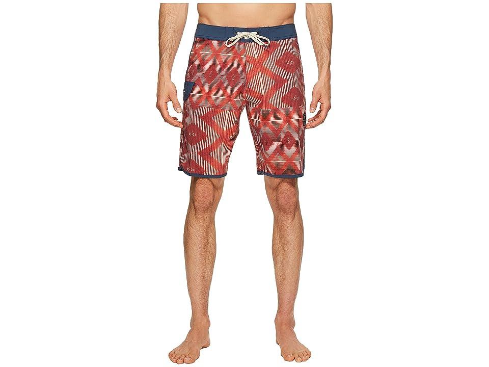 VISSLA Sumbawa Washed Four-Way Stretch Boardshorts 20 (Red Bolt) Men