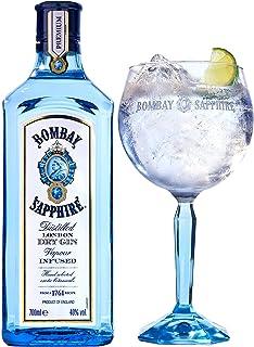 Bombay Sapphire London Dry Gin, Speciale Confezione Regalo con un Bicchiere Balloon Bombay, Esclusiva Amazon, 70 cl