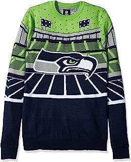 FOCO NFL Seattle Seahawks Mens Light Up Bluetooth Speaker Sweaterlight Up Bluetooth Speaker Sweater