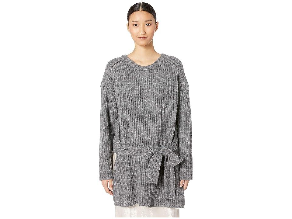 GREY Jason Wu Extrafine Merino Wool Knit Sweater Top (Heather Grey) Women