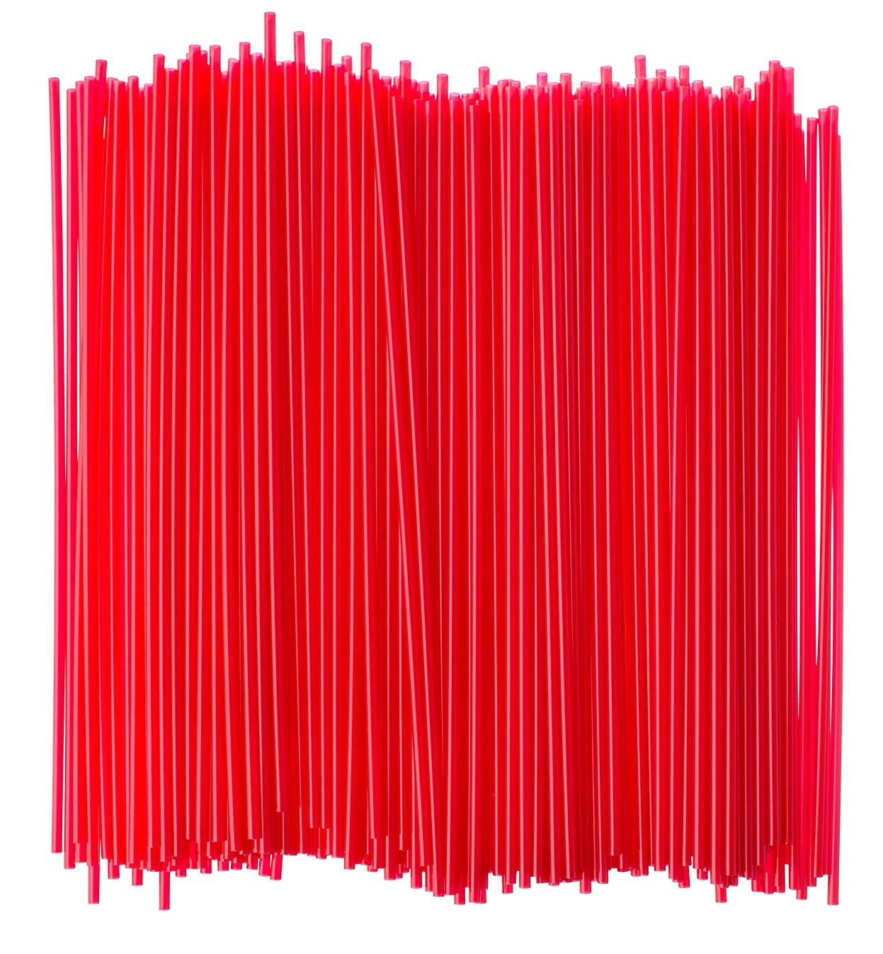 Crystalware Plastic Sip Stirrers 8 Inch 500/box, Red