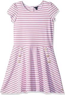 Girls' Short Sleeve Stripe Dress