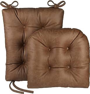 """Klear Vu The Gripper Non Slip Rocking Chair Seat and Seatback Cushion Set, 17"""" x 17"""", 1 Pack, Brown"""