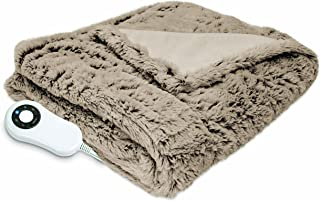 Serta Heated Electric  Faux Fur Throw - with 5 setting controller, 50 x 60