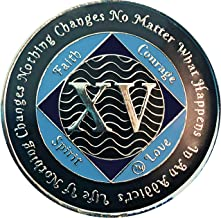 15 Year NA Tri-Plated Recovery Medallion, Narcotics Anonymous Clean Time Coin