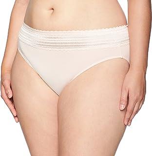 Warner's Women's No Pinching No Problems Lace Hi Cut Brief Panty