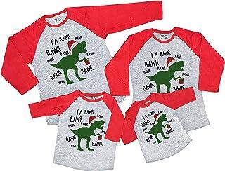 7 ate 9 Apparel Matching Family Christmas Shirts - Christmas Dinosaur Red Shirt