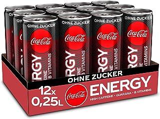 Coca-Cola Energy, Energydrink mit Koffein und Guarana mit dem unverwechselbaren Coke Geschmack ohne Zucker, EINWEG Dose 12 x 250 ml