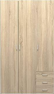 Tvilum Space 3 Drawer & & 3 Door Wardrobe, Oak Structure