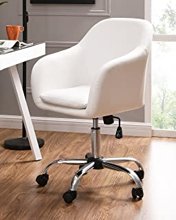 IDS Online Faux Leather Office Desk Swivel Chair, White