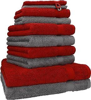 Betz Juego de 10 Toallas Premium 100% algodón 2 Toallas de baño 4 Toallas de Lavabo 4 Toallas de tocador 2 Manoplas de bañ...