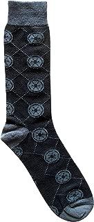 Star Wars Imperial Argyle Men's Crew Socks Shoe Size 6-12
