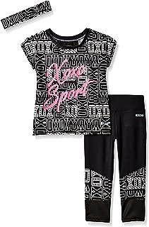 XOXO 女童 3 件套性能上衣和打底裤套装